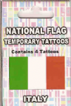 Italy Country Flag Tattoos.